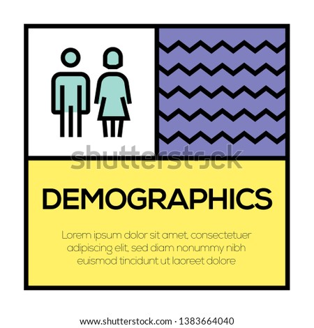 VECTOR ILLUSTRATION OF DEMOGRAPHICS ICON CONCEPT