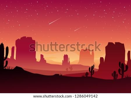 vector illustration of desert