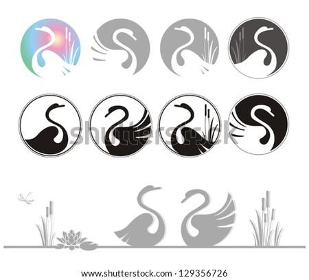 Stock Photo vector illustration of design swan