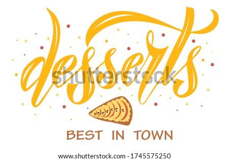 vector illustration of desserts