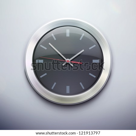 Vector illustration of detailed classic office clock icon for your design, website, application or presentation