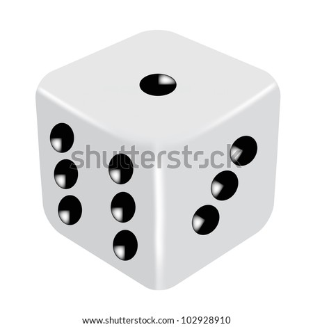Vector illustration of dice - stock vector