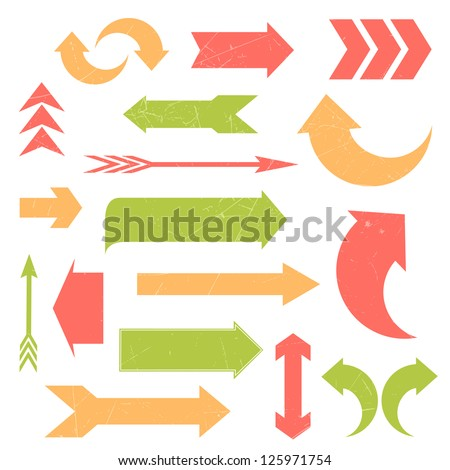 Vector Illustration of Different Arrows