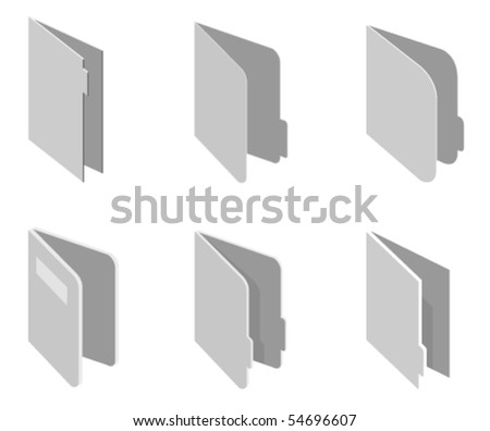 Vector illustration of different style paper folders