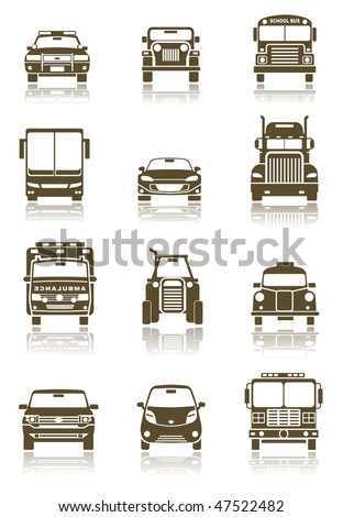 Vector illustration of different Transportation icon set