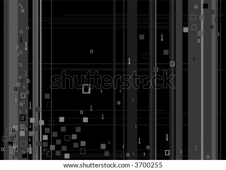 Vector illustration of digital binary code technology in vector format