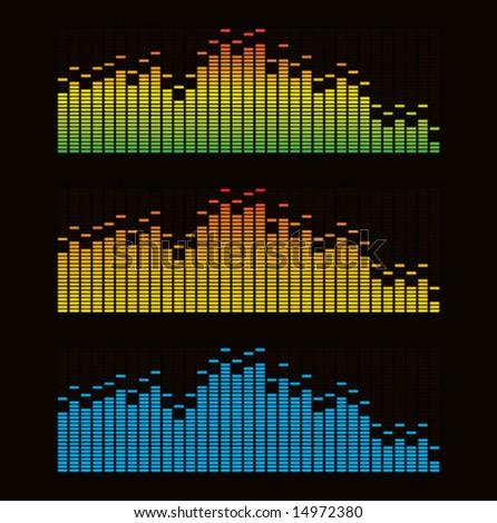 Vector illustration of digital equalizer