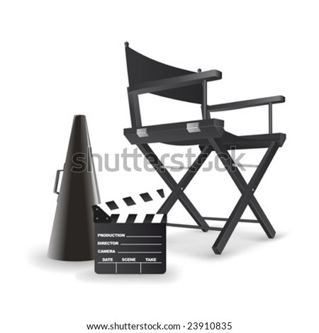 Vector illustration of director's chair. All objects are completely. So you can easily customize this work