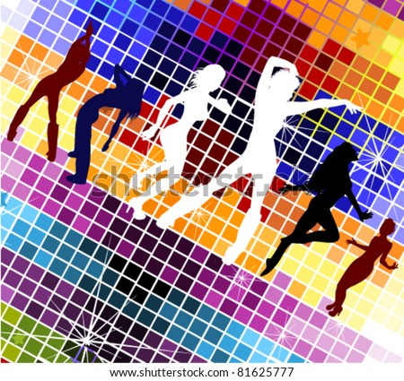 vector illustration of  disco