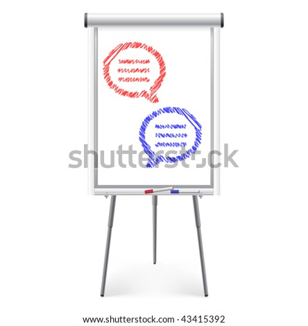 vector illustration of discussion concept