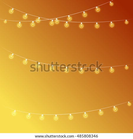 Vector illustration of Diwali festival. Diwali lighting elements - Shutterstock ID 485808346