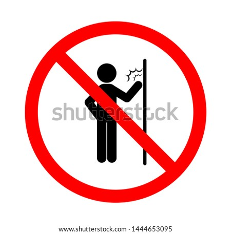 vector illustration of do not