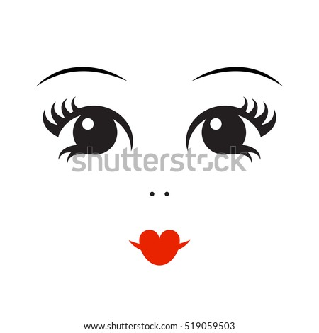 vector illustration of doll