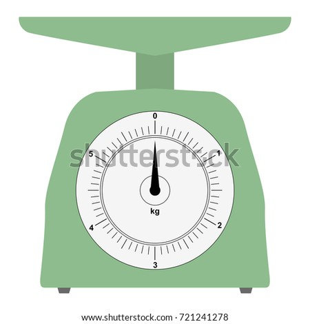 vector illustration of domestic weigh-scales