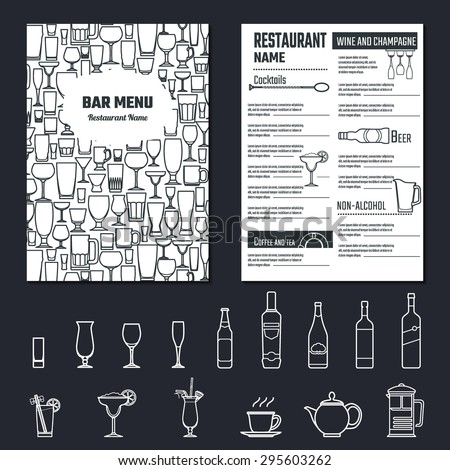 vector illustration of drinks