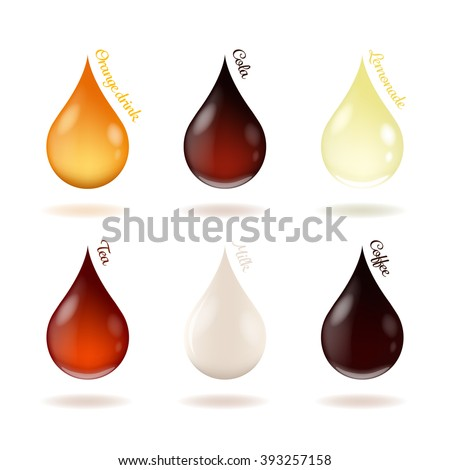 vector illustration of drops of