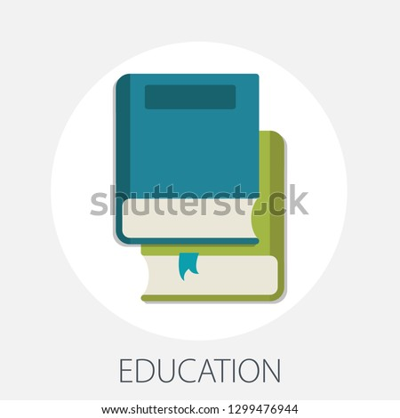 "Vector illustration of e learning & online education concept with ""education"" online education and learning book icon."