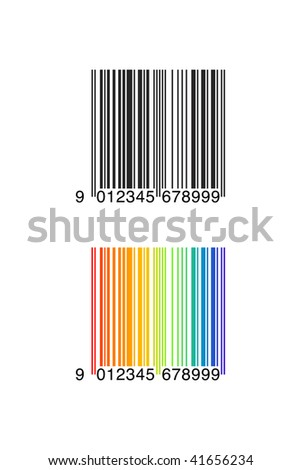Vector Illustration of EAN 8 Bar Code - stock vector