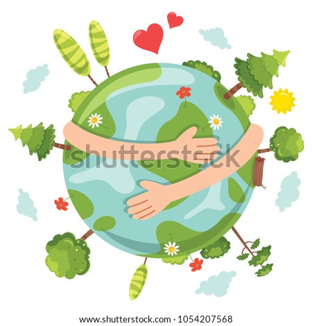 Vector Illustration Of Earth Day Foto stock ©