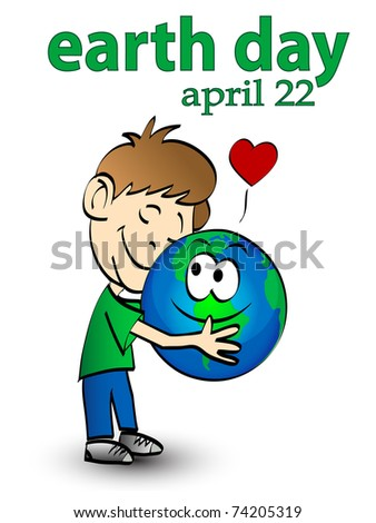 vector illustration of earth day graphic concept