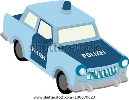 Vector illustration of east german police car