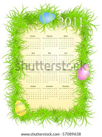 when is easter 2011 calendar. Easter 2011 - Calendar of