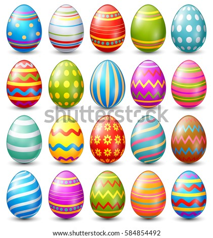 vector illustration of easter