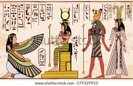 vector illustration of egyptian