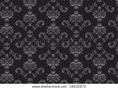 Vector illustration of elegant Victorian retro motif wallpaper Pattern