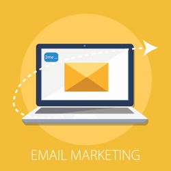 Vector illustration of email marketing & communication concept with