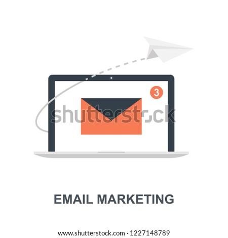 Vector illustration of email marketing flat design concept.