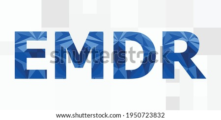 vector illustration of EMDR eye movement desensitization and reprocessing technology for stress relief  Foto stock ©