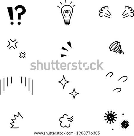 Vector illustration of emotional icons with black Foto d'archivio ©