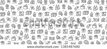 VECTOR ILLUSTRATION OF EMPLOYEE BENEFITS ICON CONCEPT