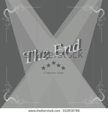 vector illustration of  ending screen - stock vector
