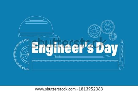 vector illustration of engineer'