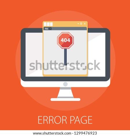 Vector illustration of 404 error & page error found concept with
