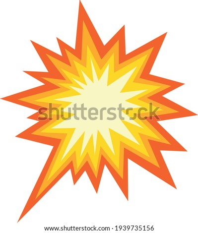 Vector illustration of explosive collision emoticon Stock photo ©