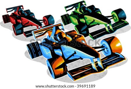 vector illustration of f1