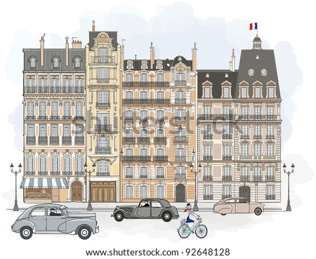vector illustration of facades