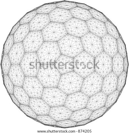Vector illustration of faceted ball