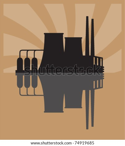 Vector illustration of factory.