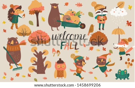 vector illustration of fall in