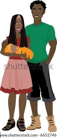 vector illustration of family