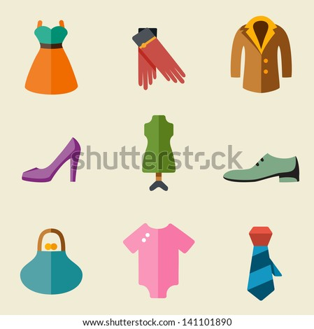 Vector illustration of fashion color on light background