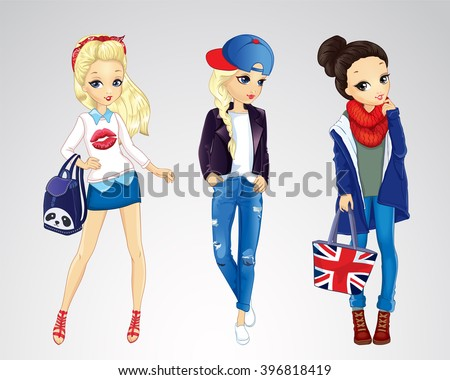 vector illustration of fashion