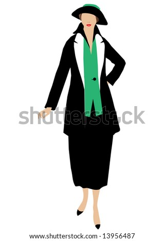 Vector illustration of fashion lady
