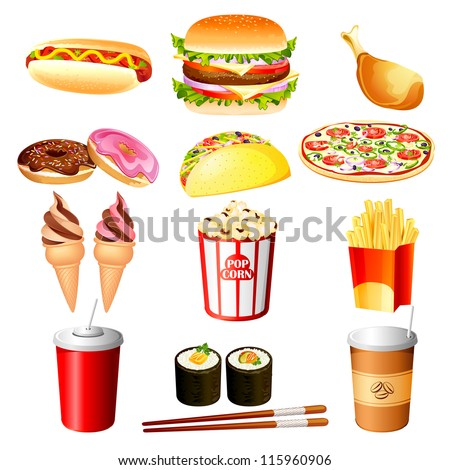 Vector Illustration of fast food item
