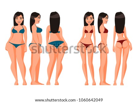 vector illustration of fat and