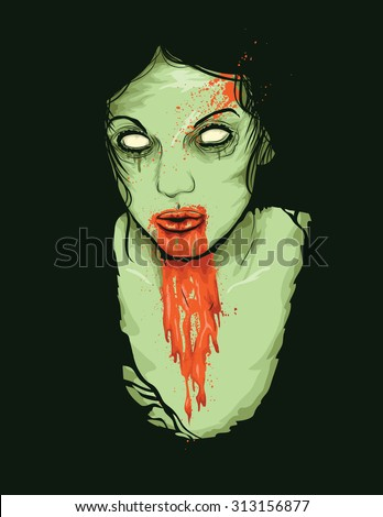 vector illustration of female